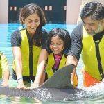 Gautami Kapoor with her husband and children