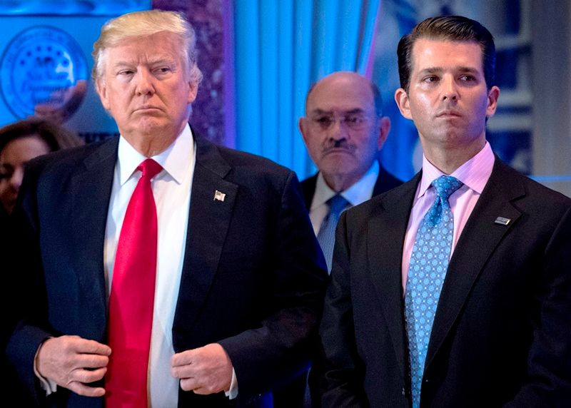 Donald Trump with his son Donald Trump Jr.