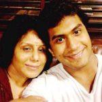 Vishagan Vanangamudi with his mother Usha Vanangamudi