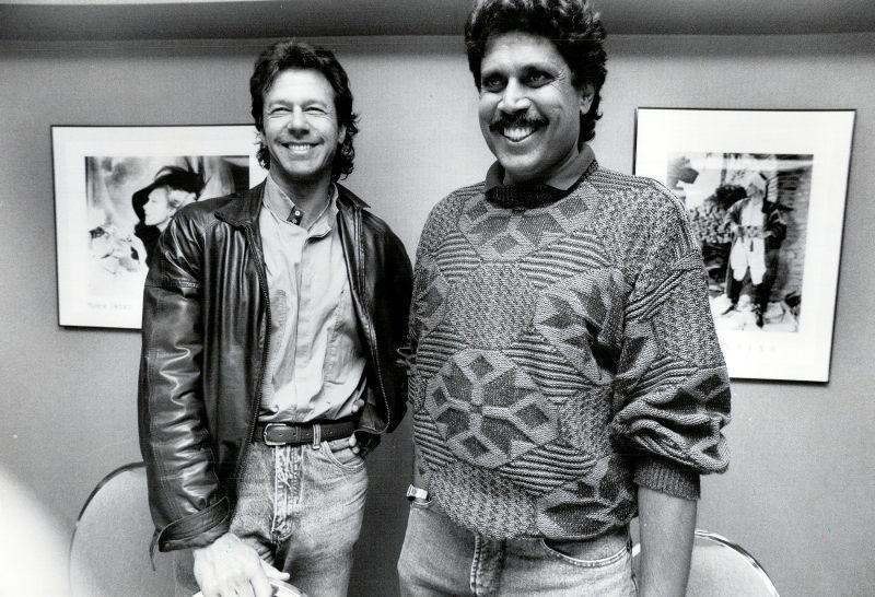 Kapil Dev With Imran Khan