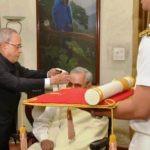 Atal Bihari Vajpayee With Bharat Ratna