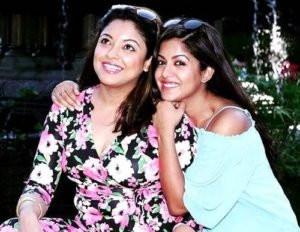Ishita Dutta with Tanushree Dutta