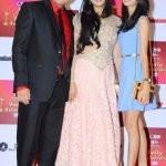 Palak Tiwari with her step-father Abhinav Kohli and mother Shweta Tiwari