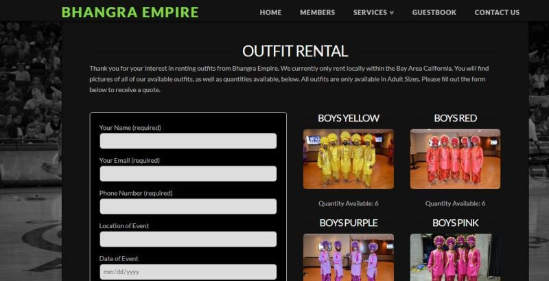 Bhangra Empire Outfit Rental Service
