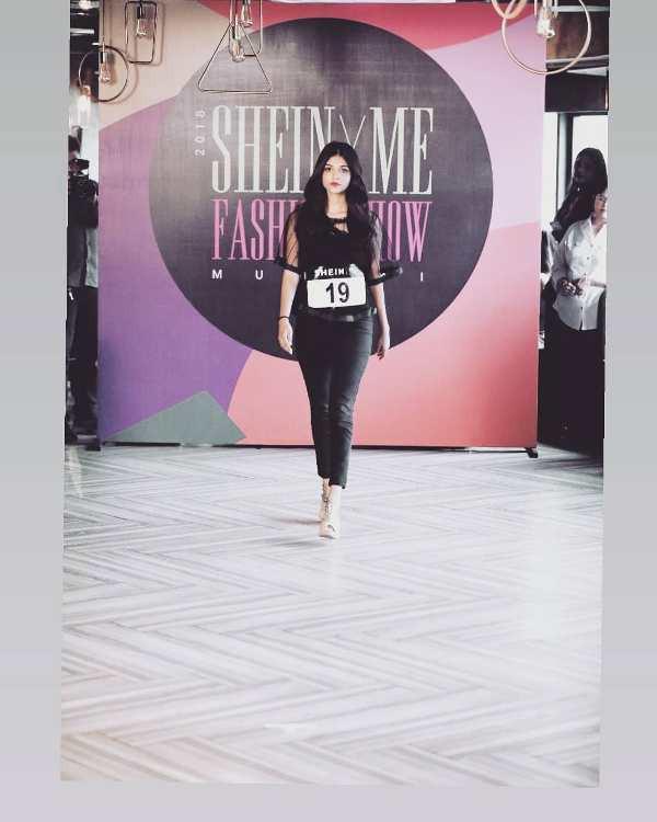 Pranali Rathod walking the ramp for Shein Fashion Show