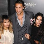 Jason Momoa with with his wife and step-daughter Lola Iolani Momoa