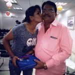 Veda Krishnamurthy with her father