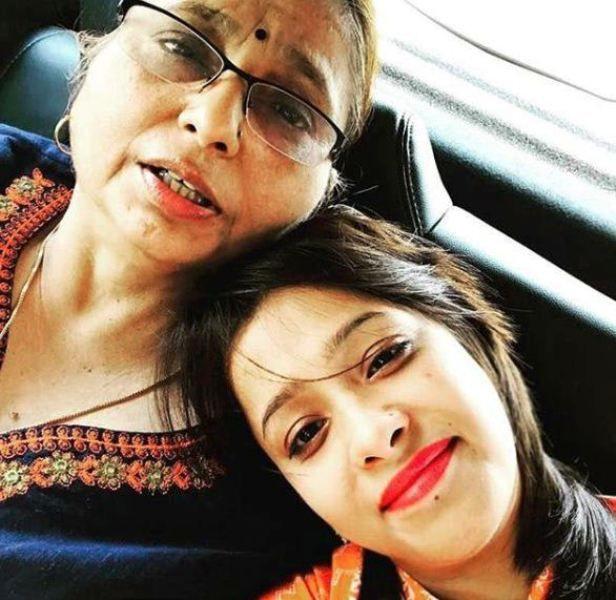 Sweta Tripathi with Her Mother