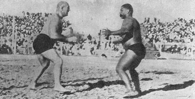 Gama With Stanislaus Zbyszko (Left)