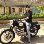 Faisal Khan riding his bike