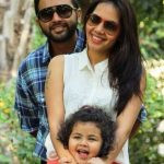 Parthiv Patel with his wife and daughter