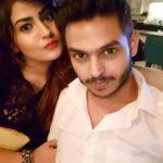 Siddharth Sagar with his girlfriend Subuhi Joshi
