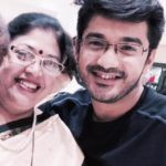 Madhav Deochake with his mother
