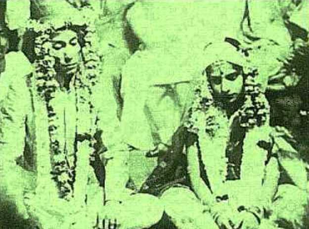 Wedding Picture of S. D. Burman and His Wife Meera Dev Burman