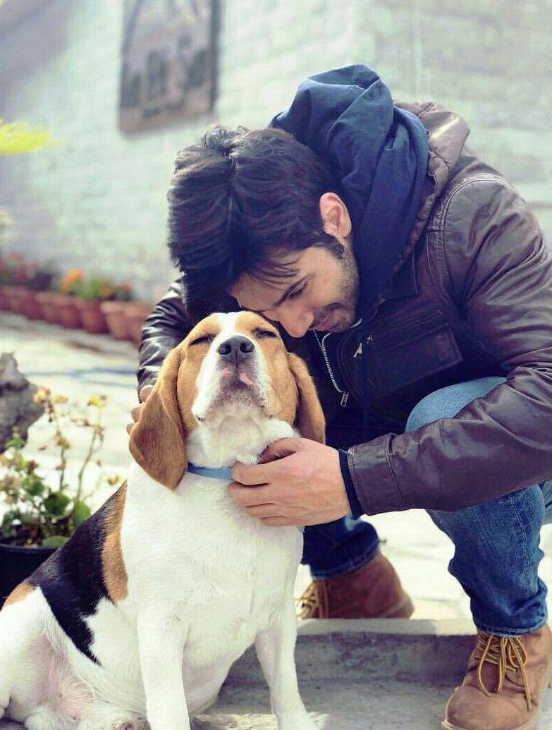 Varun Dhawan With His Dog
