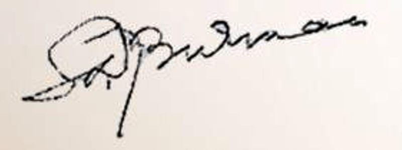 S. D. Burman's Signature