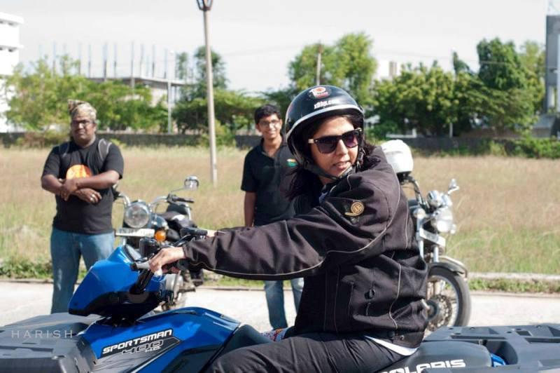 Deepa Malik in a Motorcycle Rally
