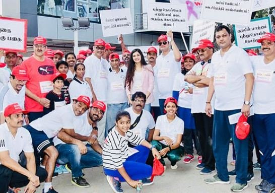 Ashrita Shetty at the Cancer Awareness Campaign in Chennai