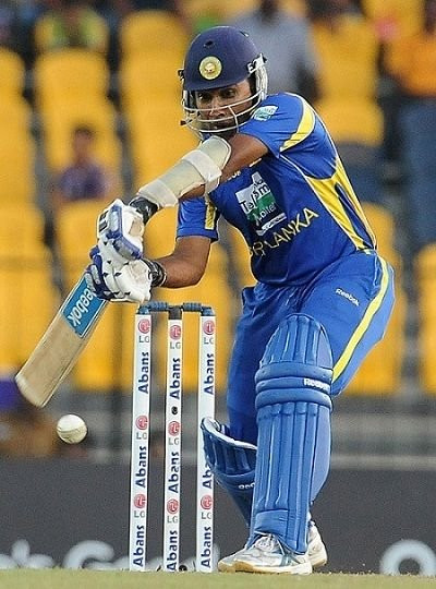 Mahela Jayawardene batting