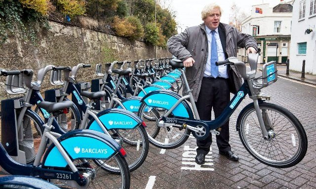 Boris Bikes scheme was launched by Boris Johnson