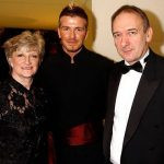David Beckham with his parents