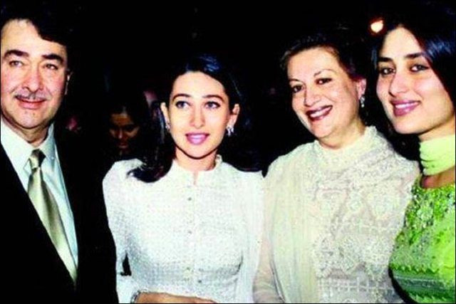Randhir Kapoor With His Family