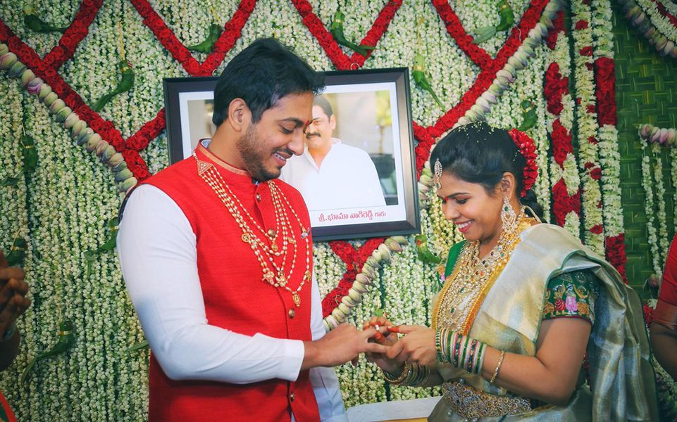 Engagement Photo of Bhuma Akhila Priya and Bhargava Ram