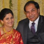 Jyoti Malshe with her husband