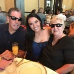 Alexis Waters with her mom and dad