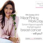 Sonam Kapoor At Elle Breast Cancer Campaign