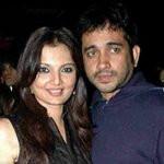 Deepshikha with ex-husband Jeet Upendra