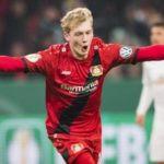 Julian Brandt playing for Bayer 04 Leverkusen