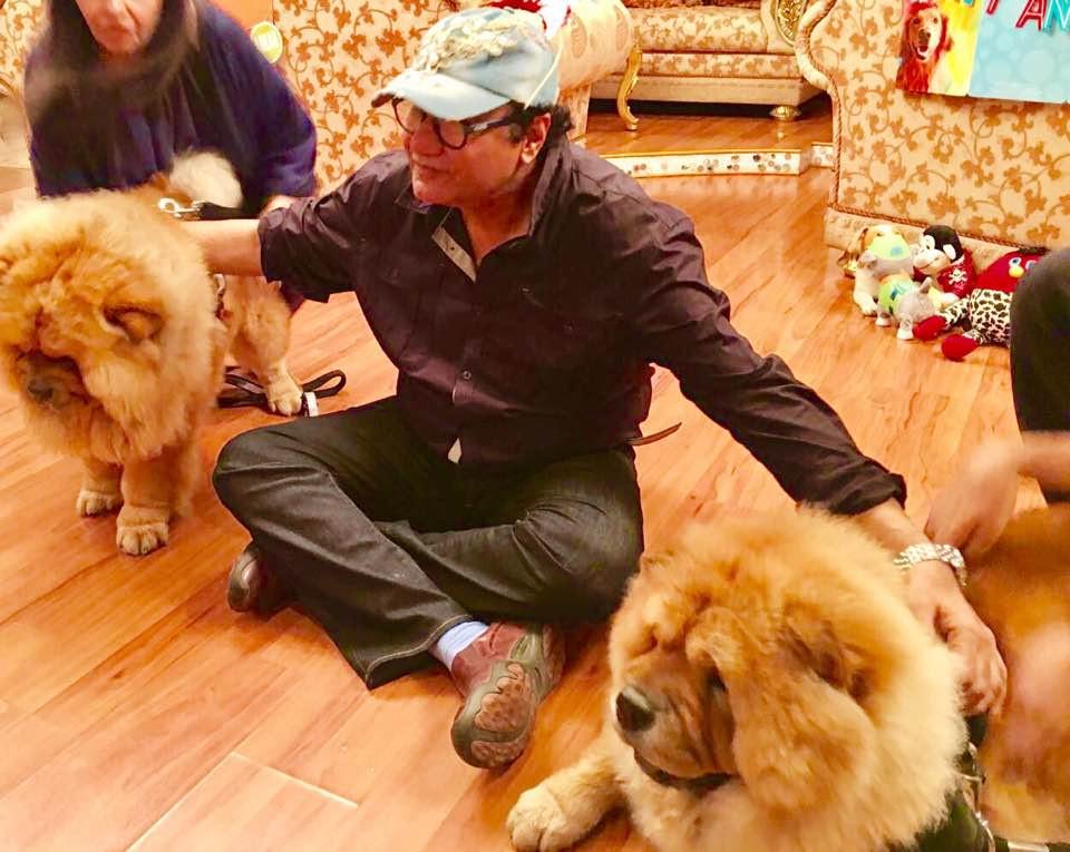 Abu Malik with his pets
