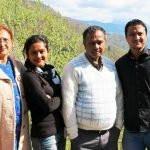 Bidisha Bezbaruah with her family