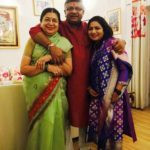 Anurradha Prasad With Her Sister and Brother
