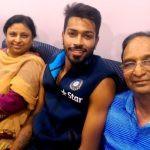 Hardik Pandya with his parents