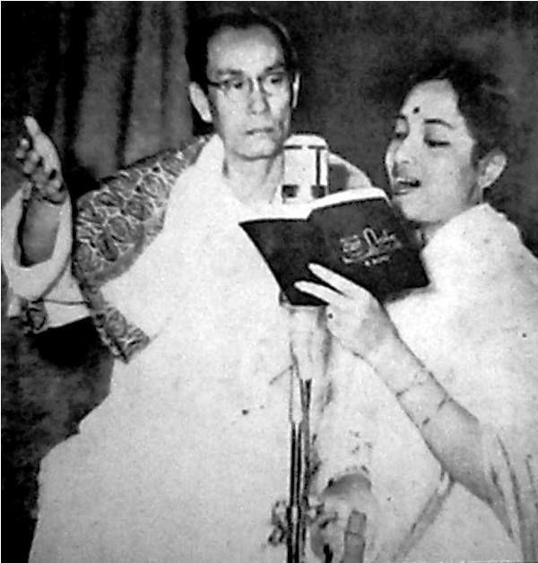 S. D. Burman Recording With Geeta Dutt