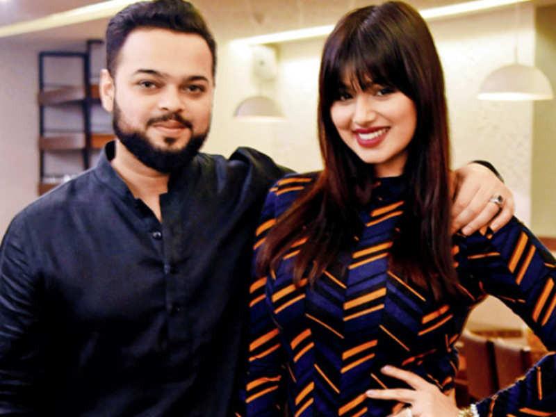 Farhan Azmi with his wife