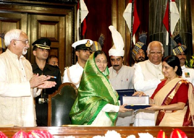 Sushma Swaraj Presented With The Outstanding Parliamentarian Award