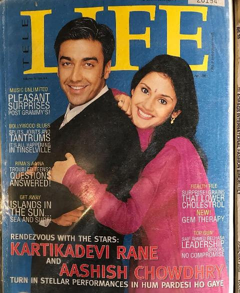 Ashish Chowdhry on the cover of the Tele Life Magazine