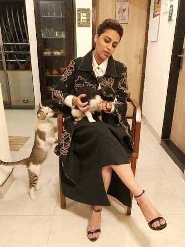 Swara Bhaskar, an animal lover