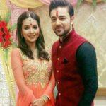 Mohit with his fiancee Mansi Srivastava