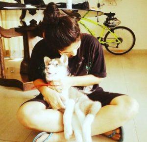 Surbhi Rana Dog Lover