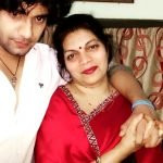 Winy Tripathi with his mother
