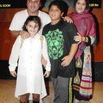 Ali Asgar with his wife and children