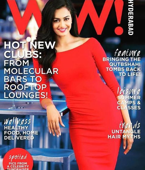 Shubra Aiyappa on the coverpage of a fashion magazine