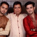 Mukul Harish with his father and brother