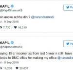 Kapil Sharma tweets to PM Modi