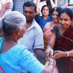 Suhasini Doing Charity To Poor People