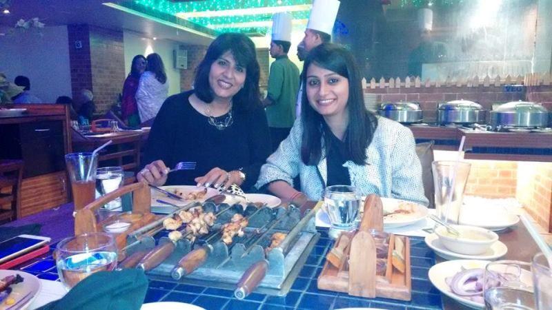 Deepa Malik in a Restaurant